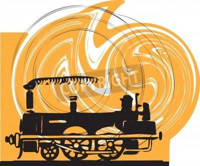 Sticker Train. Vector