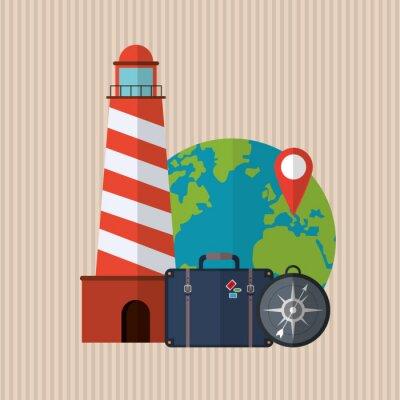 Sticker Travel icon design