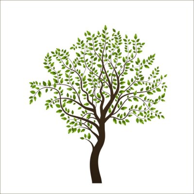 Sticker Tree isolated on white background