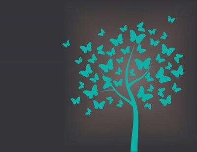 Sticker Tree made of butterflies