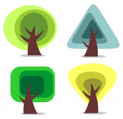 Sticker trees set