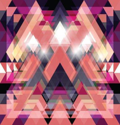 Sticker Triangular space design.