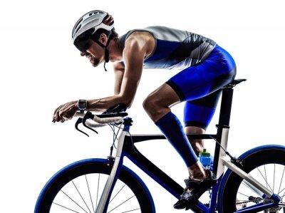 Sticker triathlon iron man athlete cyclist bicycling