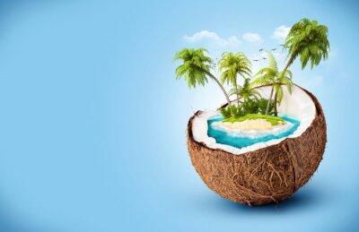 Sticker tropical island