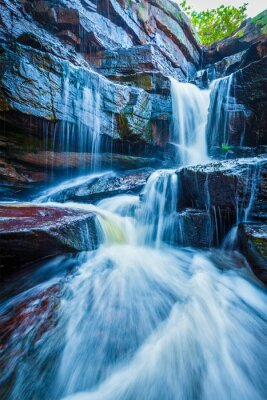 Sticker Tropical waterfall