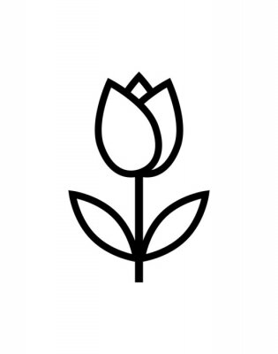 Sticker tulip flower icon