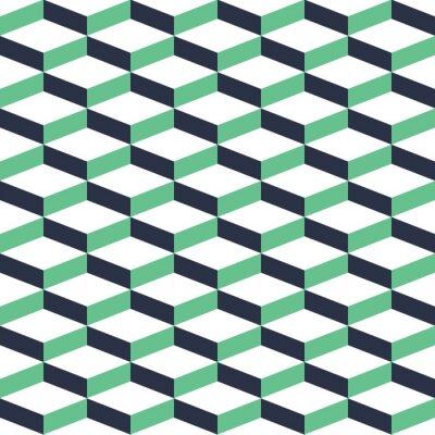 Sticker Turquoise Geometric Illusion Seamless Pattern