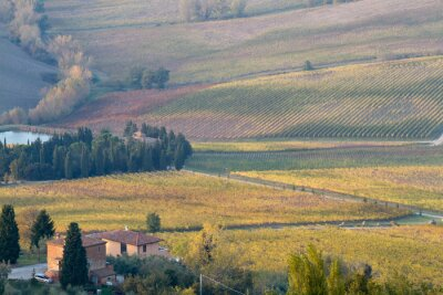 tuscany landscape during fall