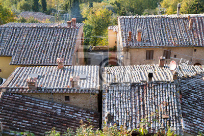 tuscany landscape of traditional villages