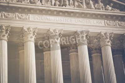 Sticker United States Supreme Court Pillars of Justice and Law