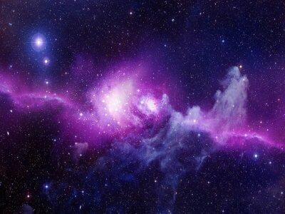 Sticker Universe filled with stars, nebula and galaxy
