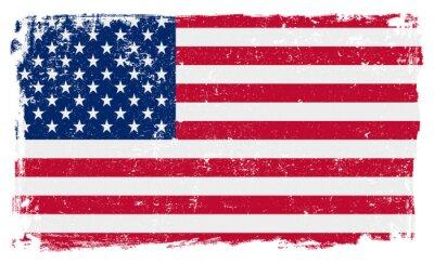 Sticker USA Flag in Vector Format