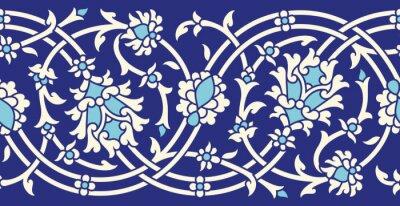 Sticker Uzbekistan Seamless Border