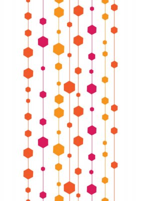 Sticker vector abstract colorful stripes and shapes vertical seamless