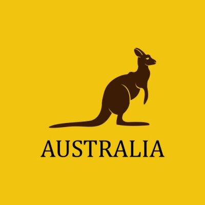 Sticker Vector australia kangaroo