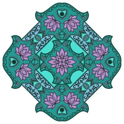 Sticker Vector color mandala.