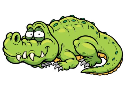 Sticker Vector illustration of Cartoon crocodile