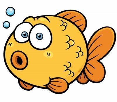 Sticker Vector illustration of Goldfish