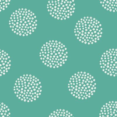 Sticker vector pattern of hand drawn dots.