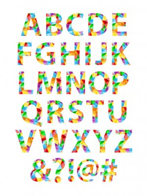 Sticker  VECTOR POLYGON ALPHABET ICONS (poster)