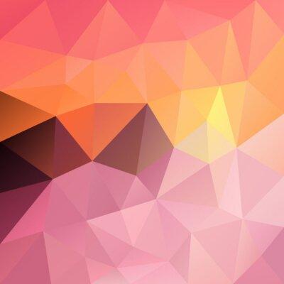 Sticker vector polygon background with irregular tessellation pattern - triangular geometric design in sundown color - sweet pastel pink