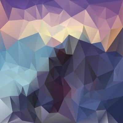 Sticker vector polygon background with irregular tessellation pattern - triangular geometric design in sundown mountain color
