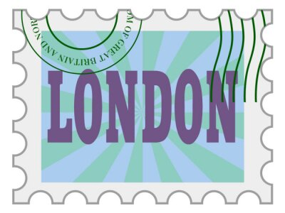 Sticker vector, post stamp of London
