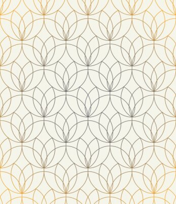 Sticker Vector seamless pattern. Ornament with stylized flowers. Geometric stylish background. Modern repeating texture. Modern graphic design.