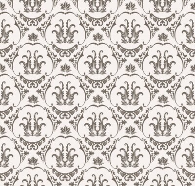 Sticker Vector seamless pattern with art ornament for design