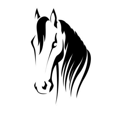 Sticker Vector silhouette of a horse head