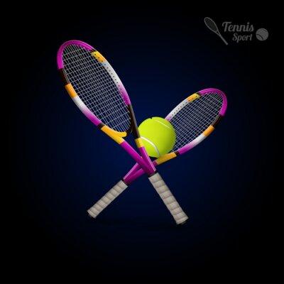 Sticker Vector tennis symbols as design elements, tennis balls, tennis r
