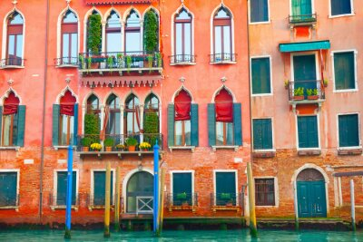 Sticker Venice buildings on the grand Canal