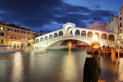 Sticker Venice, Rialto Bridge. Italy.