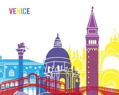 Sticker Venice skyline pop