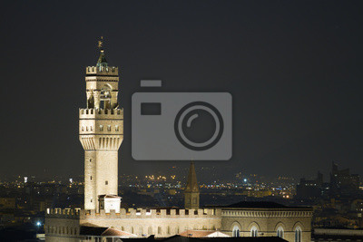 view at night of florence