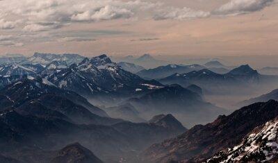Sticker View from Hoellengebirge towards Salzburg, Austria