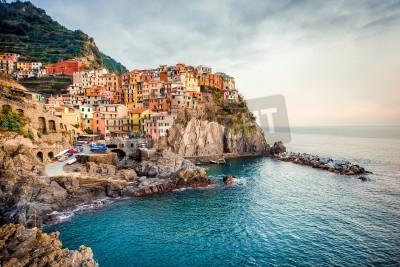 Sticker View of Manarola. Manarola is a small town in the province of La Spezia, Liguria, northern Italy.
