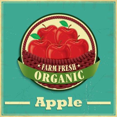 Sticker Vintage apple poster design
