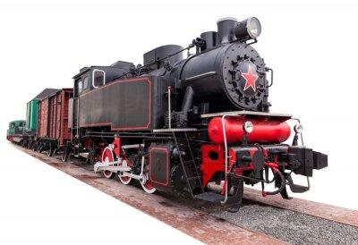 Sticker vintage,big, steam train