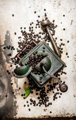 Sticker Vintage coffee grinder with pestle
