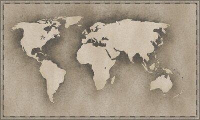 Sticker vintage map