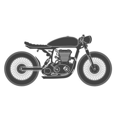 Sticker vintage motorcycle. cafe racer theme
