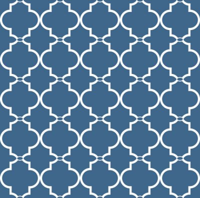 Sticker Vintage seamless floral pattern