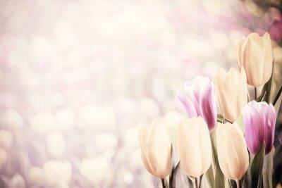 Sticker Vintage Soft Tulips
