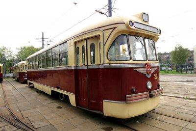 Sticker Vintage tram