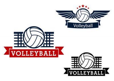 Sticker Volleyball emblems with game items