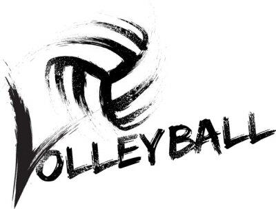 Sticker Volleyball Grunge Streaks