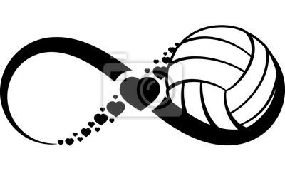 Sticker volleyball-heart-infinity4