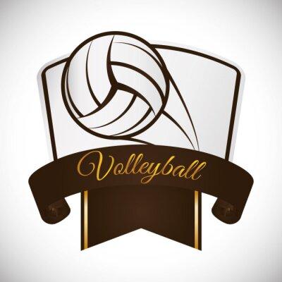 Sticker Volleyball icon design