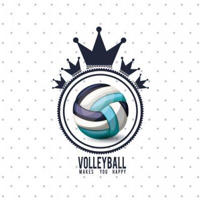 Sticker volleyball league design